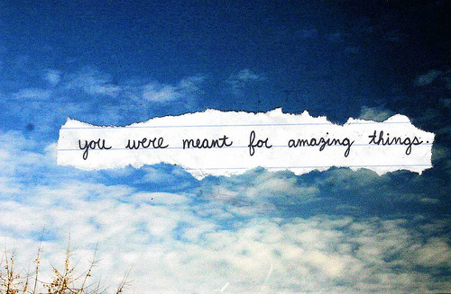 clouds, sky, text