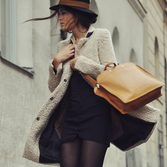 coat, cold, fashion, hat, style
