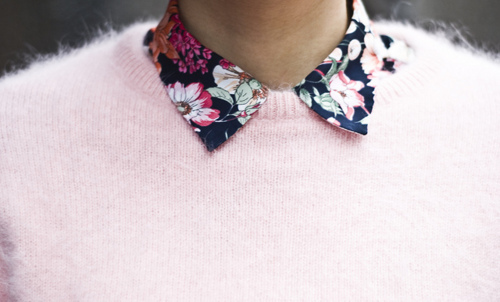 collar, elegant, ellegant, fashion, floral, flowery, pink, pretty, rose, shirt, style, sweater, zara