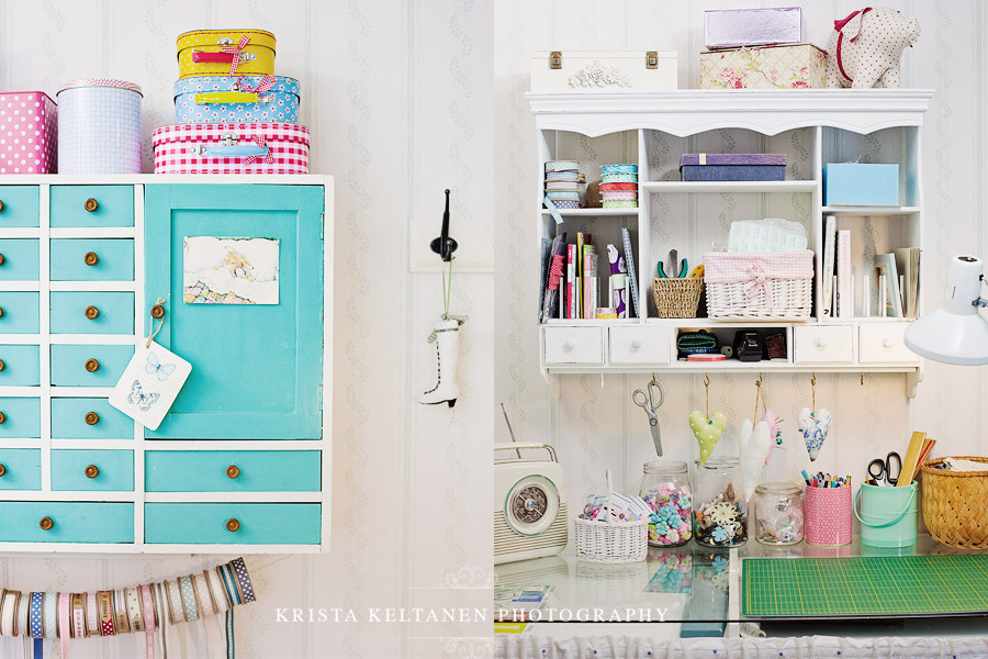 colorful, craft room, cute, materials