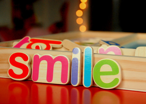 colorful, cute, letter, smile, wood