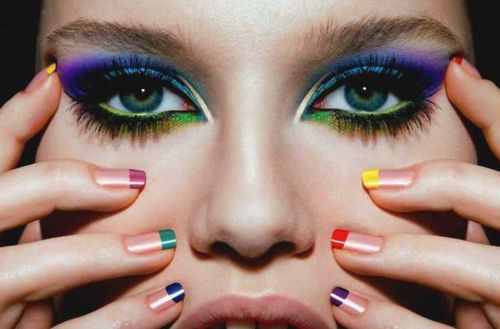 colorful, eyes, eyeshadow, fashion, girl