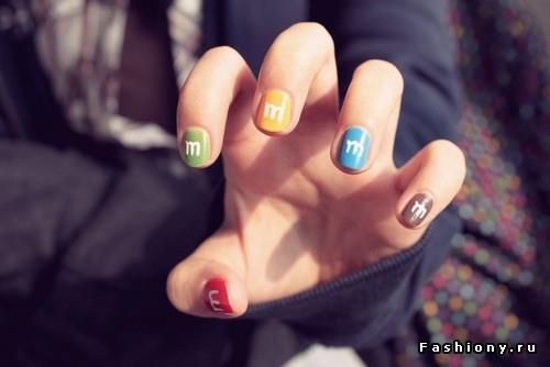 colors, cute, girl, m&m, m&ms, nails