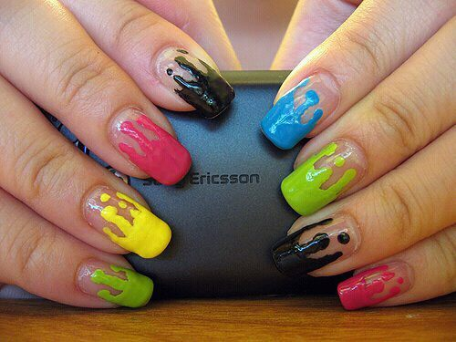colors, cute, nail polish, nails