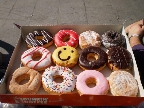 colors, delicious, donuts, dunkin donuts, food