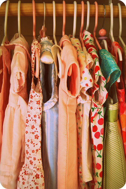 colourful, dress, patterns, pretty, shelf