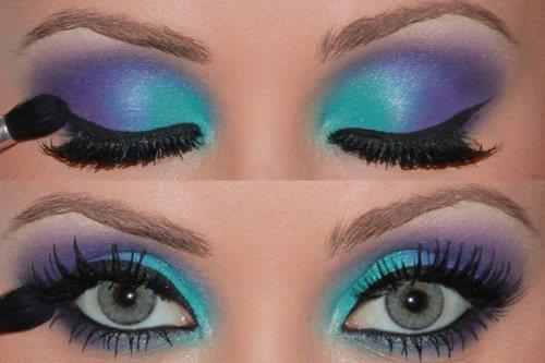 colourful, eyes, make up, makeup