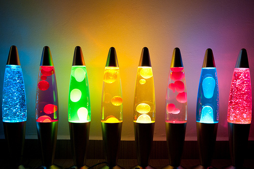 colourful, lava lamp, lights, photography, pretty