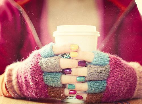 colours, cute, nails, sweet