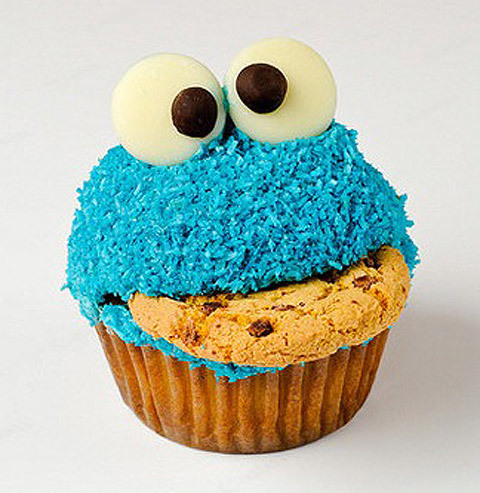 cookie, cookie monster, cup cake, cute