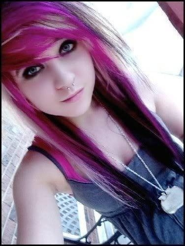 cool, emo, pink hair, scene girl, scene girls