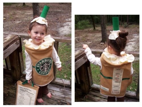 costume, girl, little, photography, starbucks