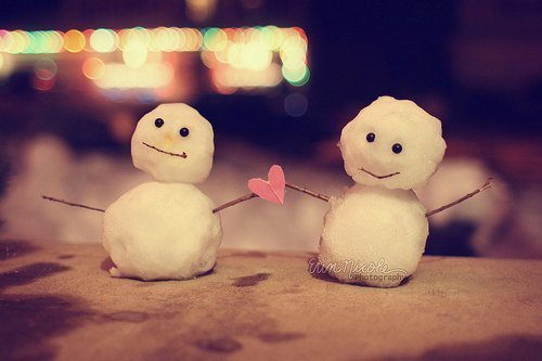 couple, cute, heart, love, snow