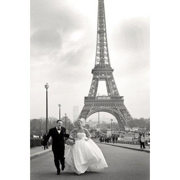 couple, dress, happiness, happy, marriage, paris, smile, smoking
