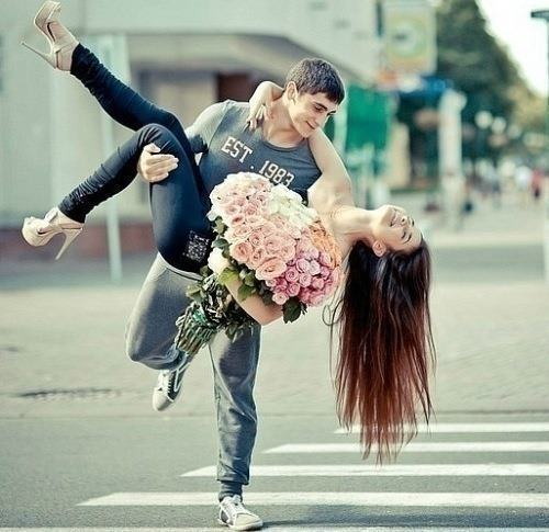 couple, flower, fun, hair, happiness