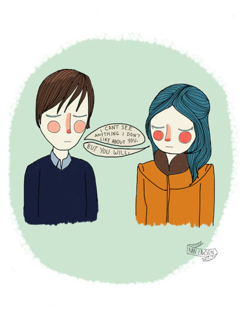 couple, illustration, love, sad, true
