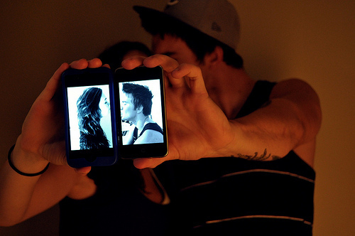 couple, love, nice, phone, photografy