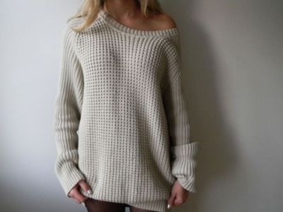 cream, cute, fashion, girl, jumper