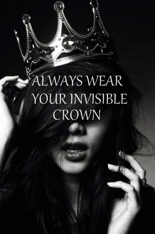 crown, girl, quote, text