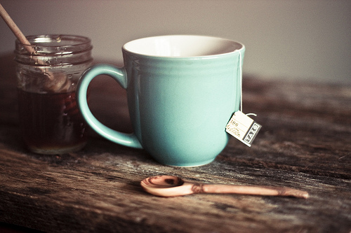cup, honey, milk, photo, photography