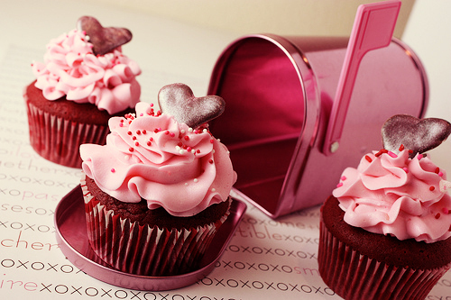cupcakes, cute, hearts, pink, sweet