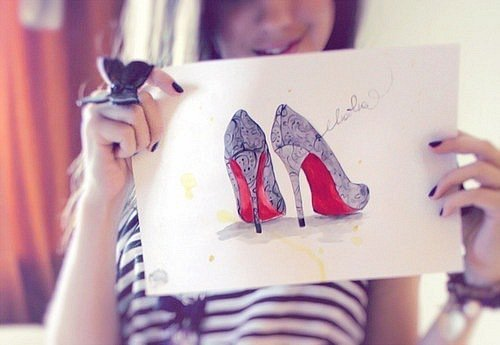 cute, design, girl, heels, i love heels