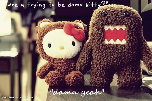 cute, domo, kitty, love