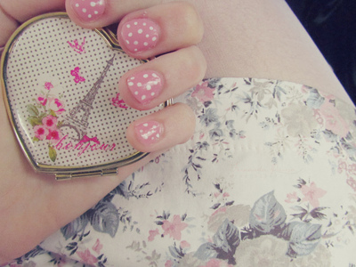 cute, eiffel tower, girly, heart, nails