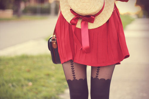 cute, fashion, girl, hat, love, red, tights