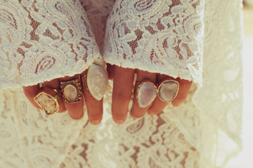 cute, fashion, lace, rings