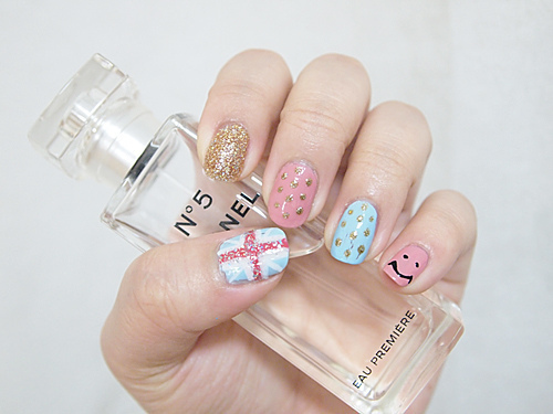 cute, fashion, nail