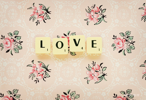 cute, flowers, letters, love