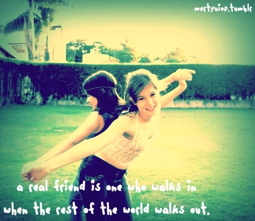 Cute Friend Quote Tumblr : Cute friend girl quote image on favim