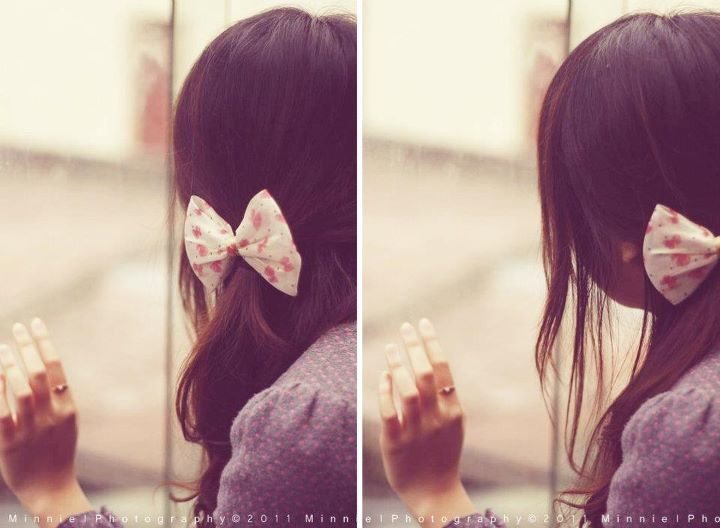 cute, girl, hands, pink, ribbon
