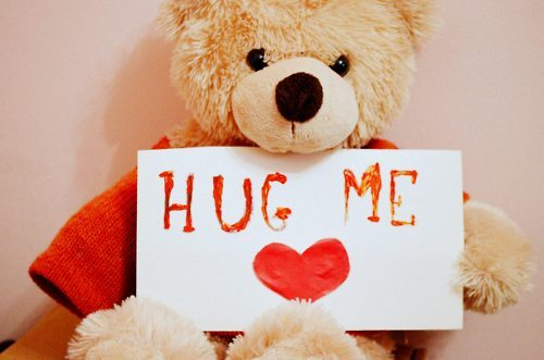 cute, heart, hug, hug me, love, lovely, photo, red, sad, small, sweet, teddy bear