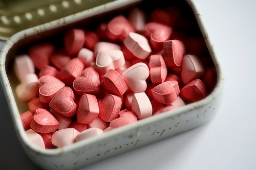 cute, hearts, love, pills, pink