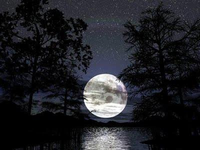 cute, image, landscape, lovely, moon