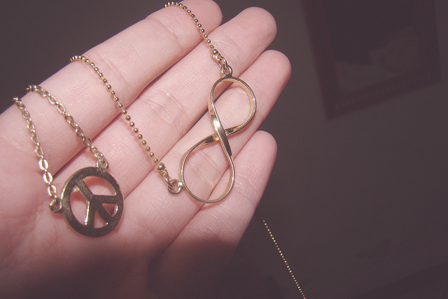 cute, infinity, necklace, peace