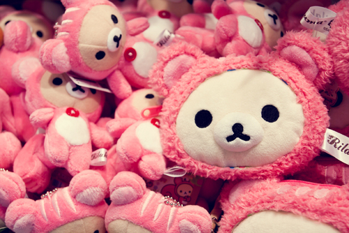 cute, japan, pink, plushes, rilakkuma