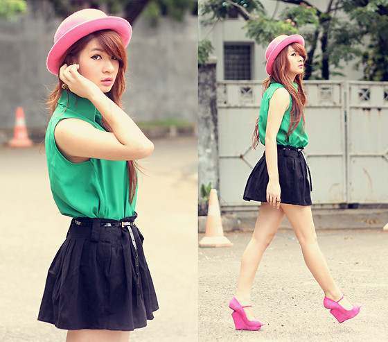cute outfit, fashion, hat, outfit, pink