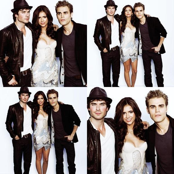 damon salvatore, elena gilbert, hat, ian somerhalder, nina dobrev
