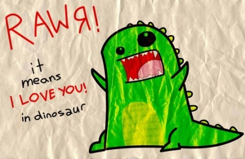 dinosaur, green, love, rawr, rawr dino cute