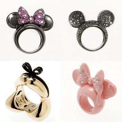 disney, fashion, mickey, minnie, rings