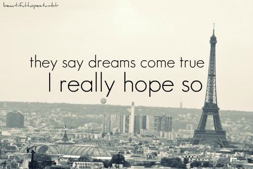 dreams, hope, paris, text