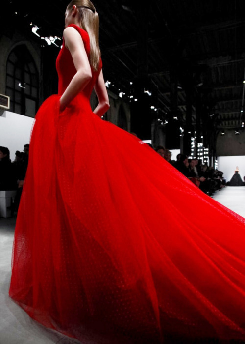 dress, fashion, model, red, runway