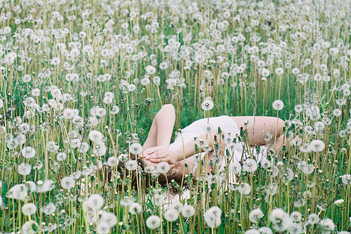dress, flowes, girl, green, white