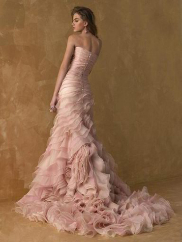 dress, pink, pink dress, wedding, wedding dress