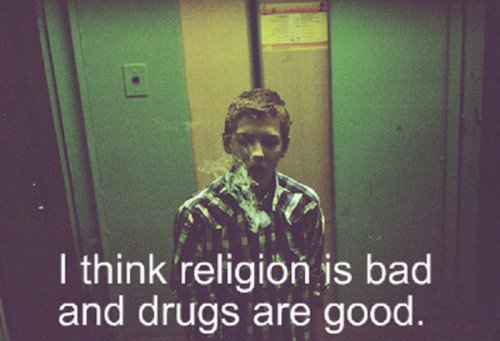 drugs, religion, smoke, text, weed