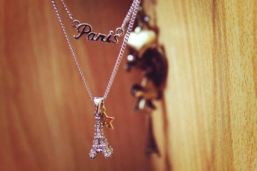 eiffel tower, girl, necklace, paris
