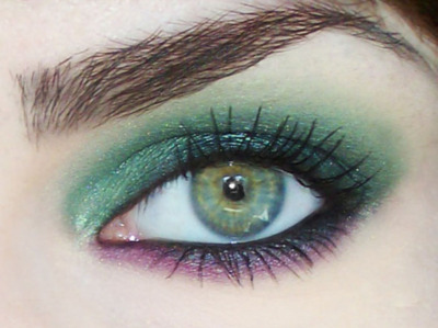 eyebrow, eyeshadow, green eye, green eyes, makeup